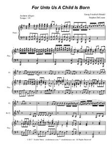 No.12 For Unto Us a Child is Born: For woodwind quartet by Georg Friedrich Händel