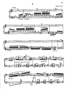 Magyar Dalok (Hungarian National Melodies), S.242: No.9 in A Minor by Franz Liszt