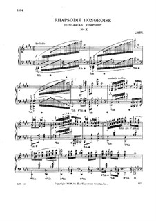 No.10 in E Major, S.244: For piano by Franz Liszt