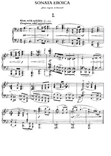 Sonata No.2 'Eroica', Op.50: For piano by Edward MacDowell