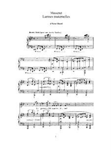 Larmes maternelles: For high voice and piano by Jules Massenet