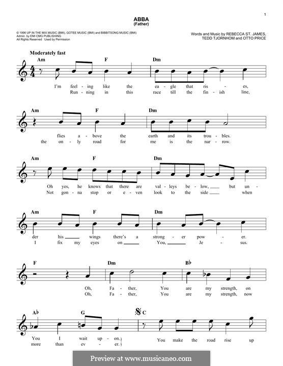 Abba (Father): Melody line by Tedd Tjornhom, Otto Price