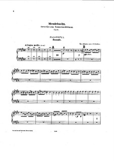 Ein Sommernachtstraum (Midsummer Night's Dream), Op.21: Overture, for two pianos eight hands by Felix Mendelssohn-Bartholdy