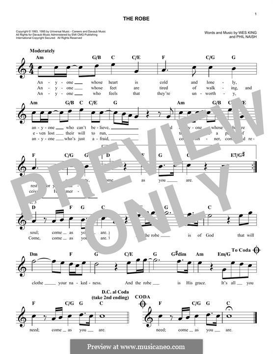 The Robe: Melody line by Phil Naish