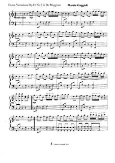 Danza Venezianas, Op.81: Danza Veneziana No.2 in Do Maggiore by Marzia Gaggioli