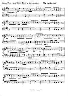 Danza Venezianas, Op.81: Danza Veneziana No.3 in La Maggiore by Marzia Gaggioli