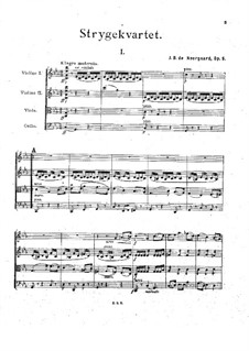 String Quartet in C Minor, Op.6: Full score by Joachim Neergaard