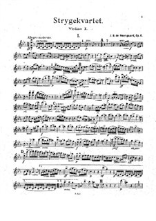 String Quartet in C Minor, Op.6: Parts by Joachim Neergaard