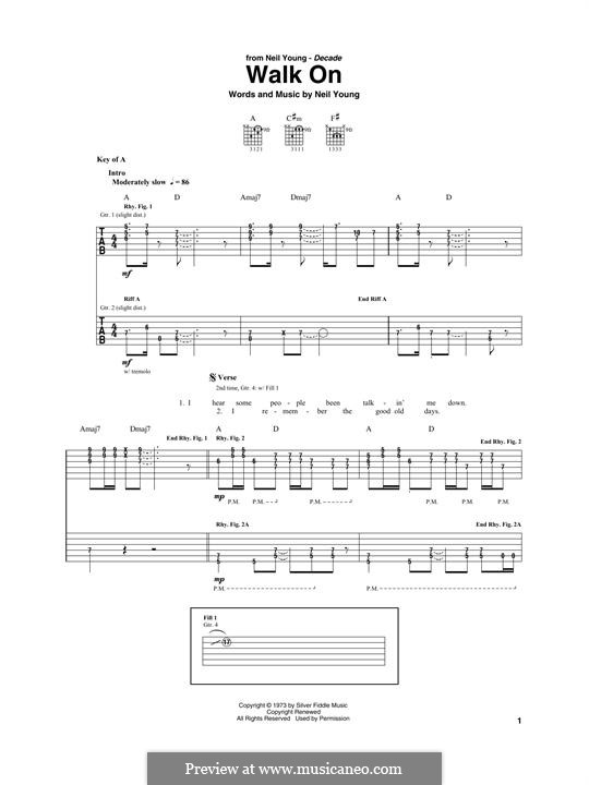 Walk On: For guitar with tab by Neil Young