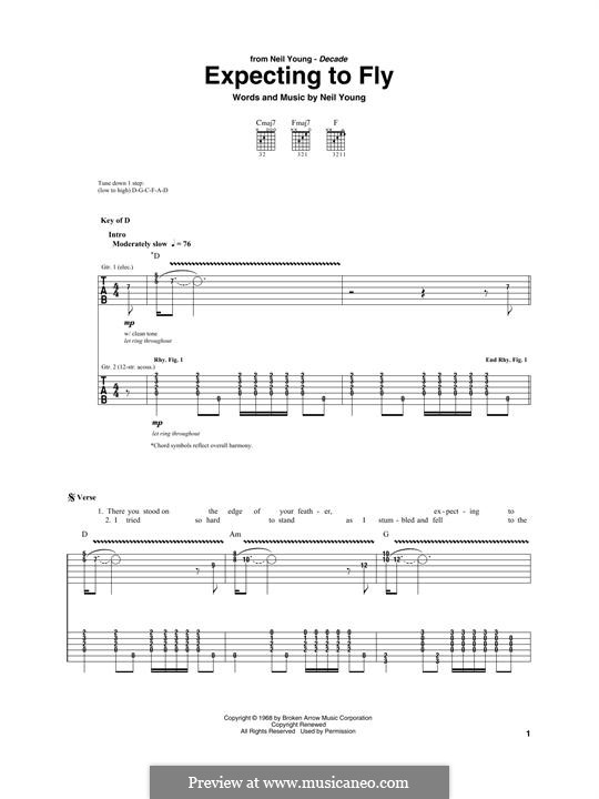 Expecting To Fly: For guitar with tab by Neil Young