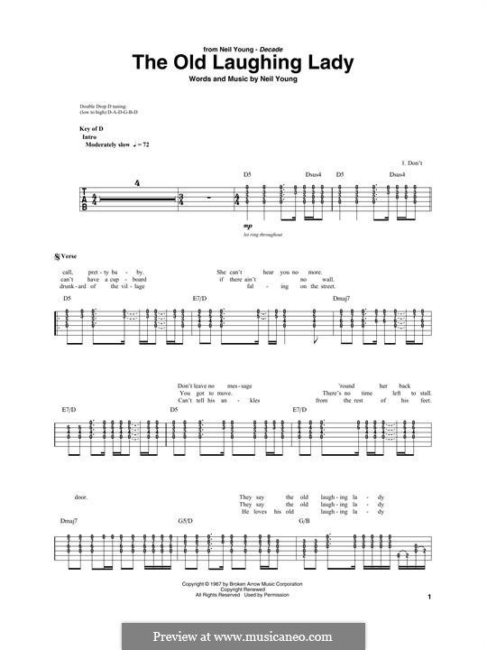 The Old Laughing Lady: For guitar with tab by Neil Young