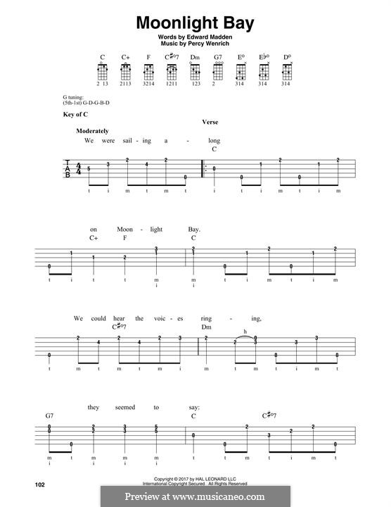 Moonlight Bay: For banjo by Percy Wenrich