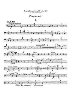 Symphony No.2 'The Four Temperaments', FS 29 Op.16: Timpani part by Carl Nielsen