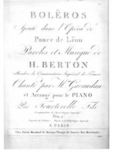 Bolëros: Bolëros by Henri-Montan Berton