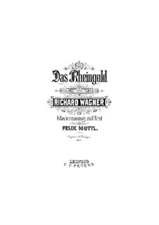 The Rhine Gold, WWV 86a: Piano-vocal score by Richard Wagner