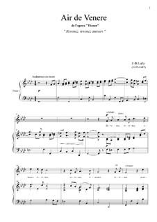 Thésée: Revenez, revenez amours by Jean-Baptiste Lully