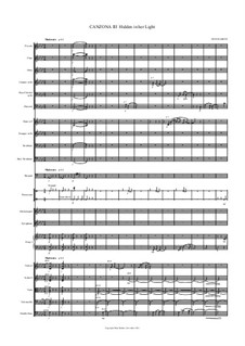 Canzona III Hidden in her Light for orchestra – Score: Canzona III Hidden in her Light for orchestra – Score by Hans Bakker
