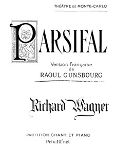 Complete Opera: For voices and piano (French text) by Richard Wagner