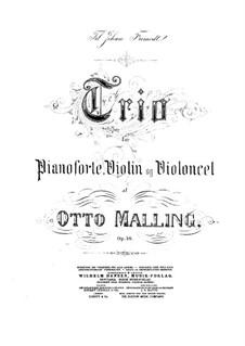 Piano Trio, Op.36: Full score by Otto Malling