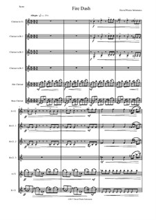 Fire Dash: For clarinet sextet by David W Solomons