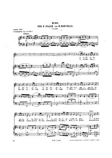 Psalms: Psalm No.8, piano-vocal score by Benedetto Marcello