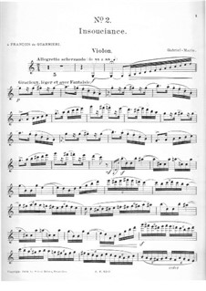 Impressions for Violin and Piano: No.2 Insouciance – solo part by Gabriel Prosper Marie