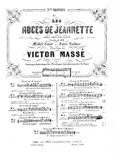 Les noces de Jeannette (Jeannette's Wedding): No.8, Air du Rossignol. Arrangement for voice and piano by Victor Massé