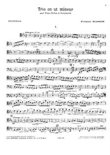 Piano Trio in C Minor: Cello part by Fernand Masson