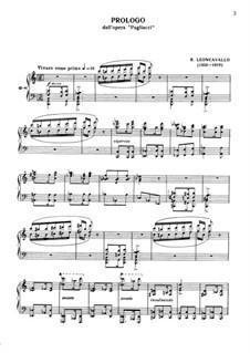 Pagliacci: Prologo by Ruggero Leoncavallo