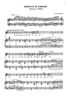 I Medici: Serenata di Lorenzo by Ruggero Leoncavallo