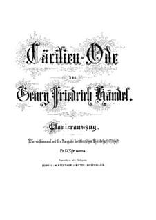 Caecilien Ode: Caecilien Ode by Georg Friedrich Händel