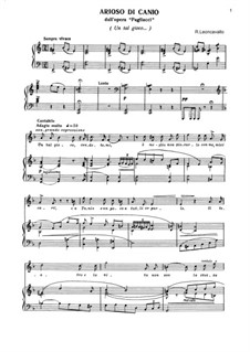 Pagliacci: Arioso di Canio by Ruggero Leoncavallo