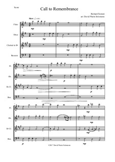 Call to remembrance: For wind quartet by Richard Farrant