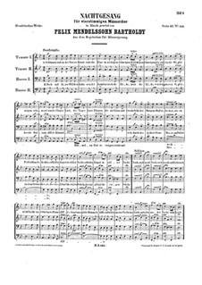 Nachtgesang (Night Song), WoO 21: Nachtgesang (Night Song) by Felix Mendelssohn-Bartholdy