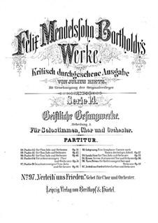 Da nobis pacem, Domine, WoO 5: Da nobis pacem, Domine by Felix Mendelssohn-Bartholdy