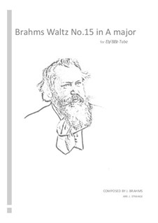 Waltz No.15 (Chamber arrangements): For tuba by Johannes Brahms