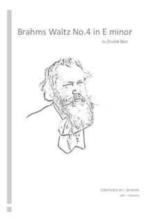 Waltz No.4: Arrangement for double bass by Johannes Brahms