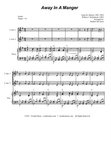 Away in a Manger: For two C-instruments and piano by James R. Murray