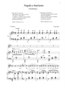 Napule e Surriento: For voice and piano by Ernesto Tagliaferri