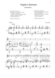 Napule e Surriento: For voice and piano (C-dur) by Ernesto Tagliaferri