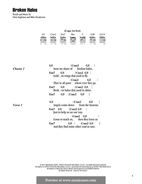 Broken Halos by C. Stapleton, M.J. Henderson - sheet music on MusicaNeo
