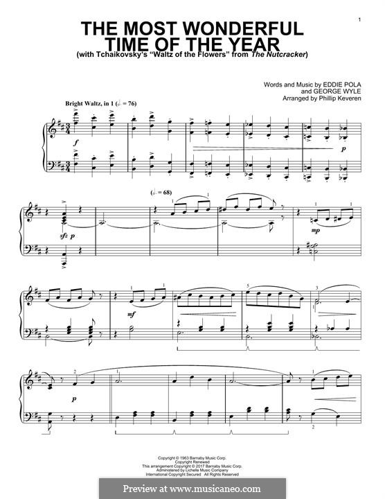 The Most Wonderful Time of the Year: For piano by George Wyle, Edward Pola