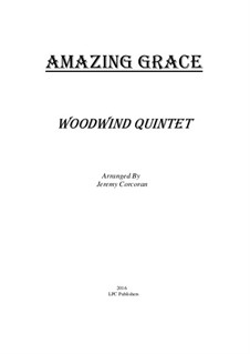Amazing Grace: For woodwind quintet by folklore