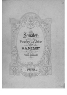 Sonatas for Violin and Piano: Solo part by Wolfgang Amadeus Mozart
