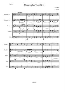 Dance No.4 in F Sharp Minor: For wind quintet by Johannes Brahms