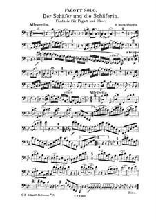 Fantasia for Oboe, Bassoon and Piano 'Der Schäfer und die Schäferin': Bassoon part by Hilmar Mückenberger