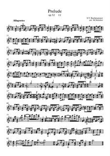 Thirteen Preludes, Op.32: Prelude No.11, for guitar by Sergei Rachmaninoff