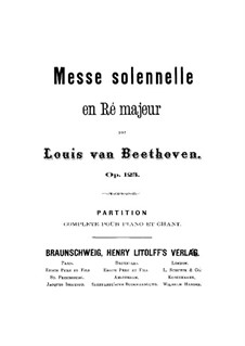 Missa Solemnis, Op.123: Piano score with vocal parts by Ludwig van Beethoven