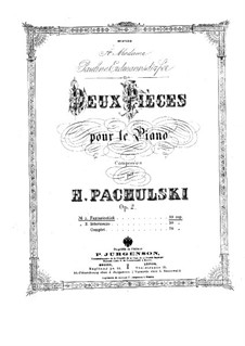 Two Pieces for Piano, Op.2: Complete set by Henryk Pachulski