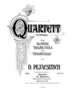Piano Quartet in D Minor, Op.25: Full score by Dora Pejačević